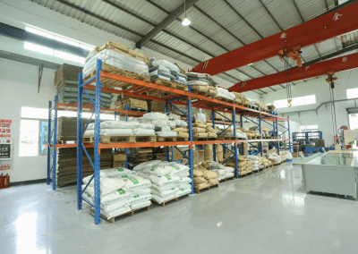 Material warehouse to store mostly imported rawmaterials.